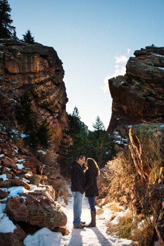 Eldorado+Canyon+winter+engagement+session+colorado