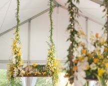 hanging floral centerpiece ideas