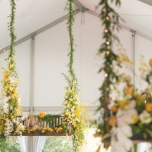 hanging floral centerpiece ideas